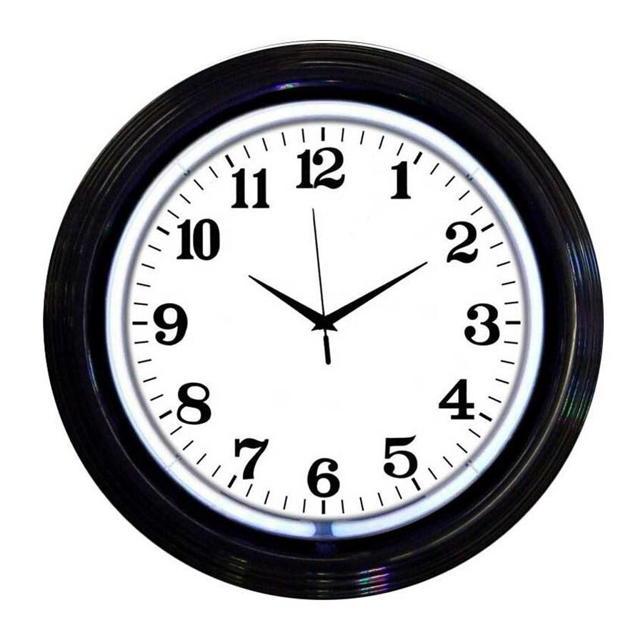 Neonetics Black Analog Round Indoor Wall Clock