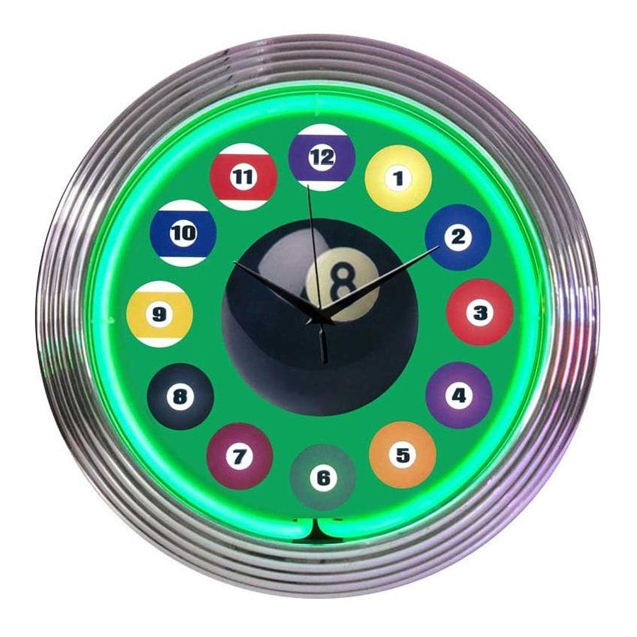 Neonetics Billiard Ball Analog Round Indoor Wall Clock