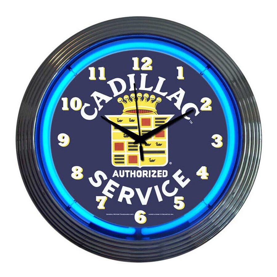 Neonetics Cadillac Service Analog Round Indoor Wall Clock