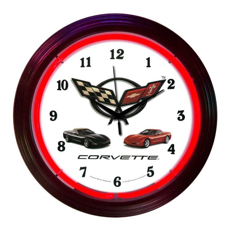 Neonetics Corvette Analog Round Indoor Wall Clock