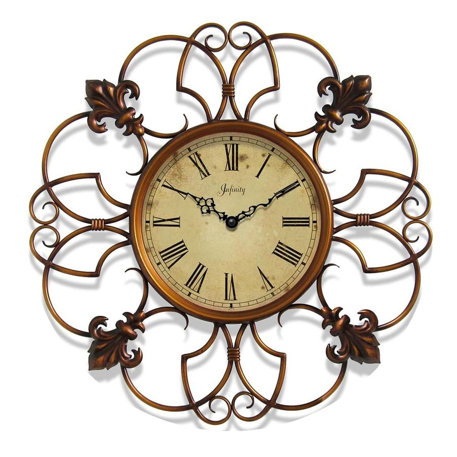 Infinity Instruments Province Analog Round Indoor Wall Standard Clock
