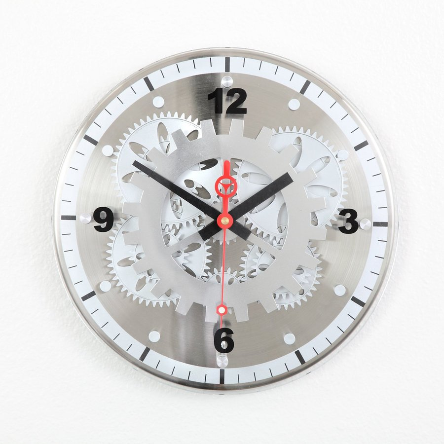 Shop Maple S Moving Gear Analog Round Indoor Wall Clock At