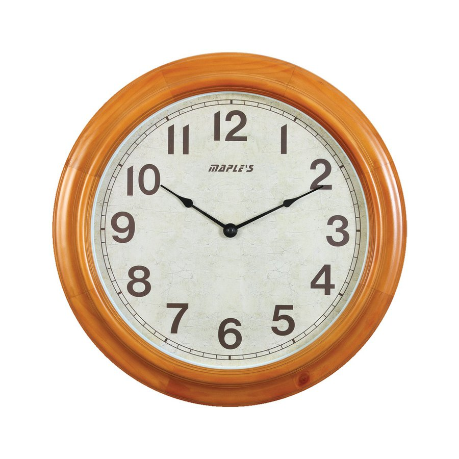 Maple's Analog Round Indoor Wall Clock