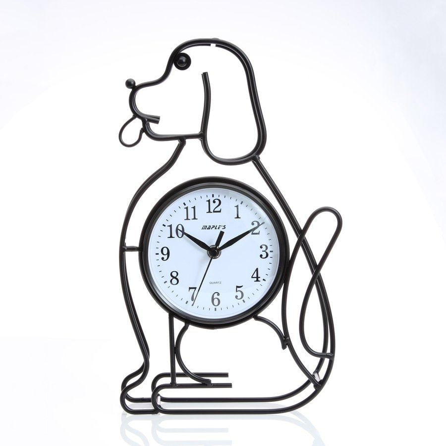 Maple's Dog Silhouette Analog Indoor Wall Clock