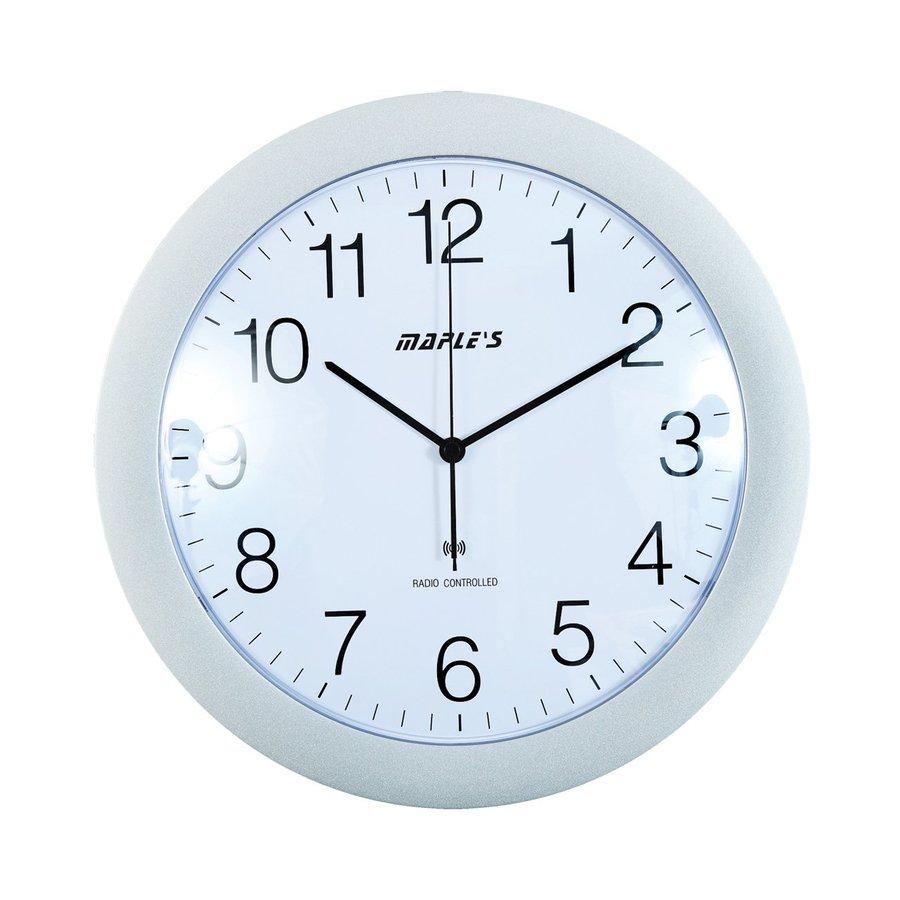 Maple's Radio-Controlled Analog Atomic Round Indoor Wall Clock