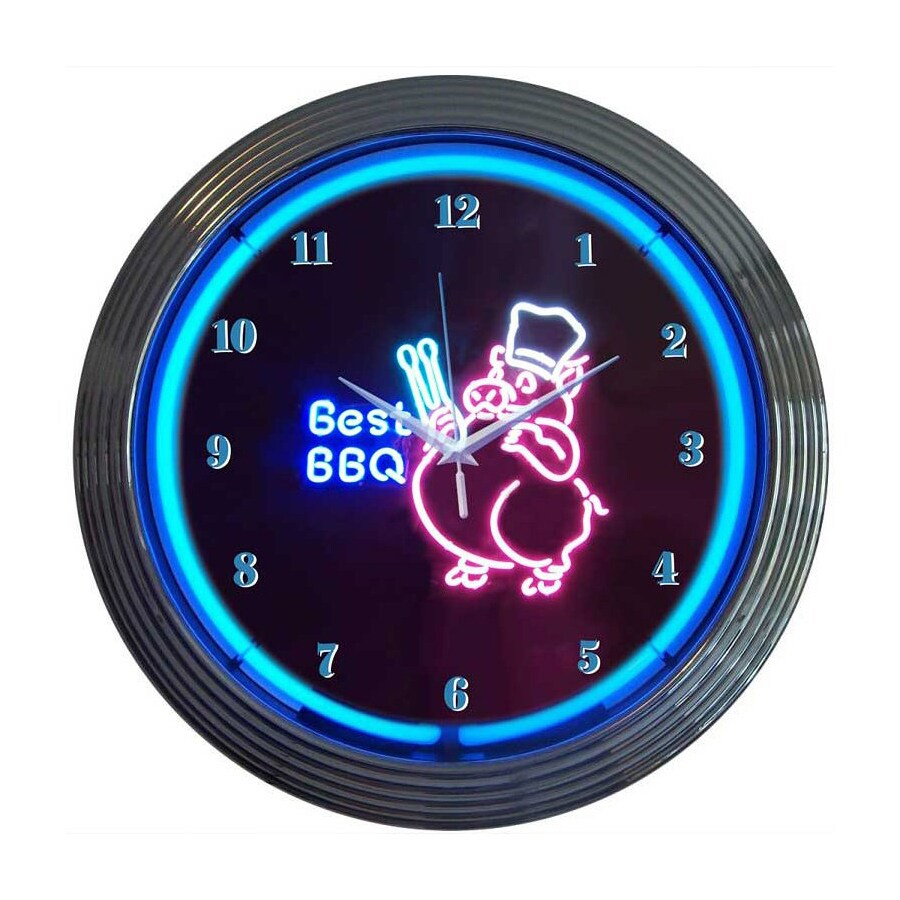 Neonetics Best Bbq Pig Analog Round Indoor Wall Clock