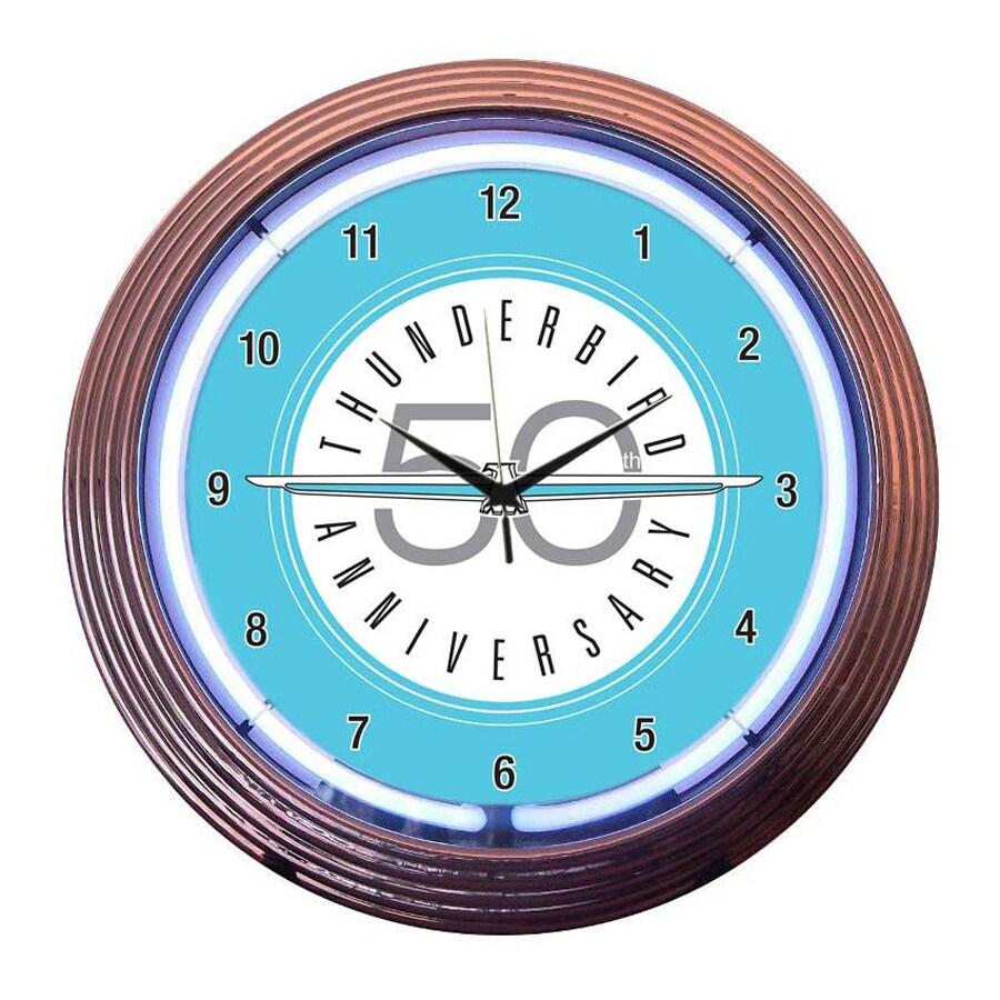 Neonetics Ford Thunderbird Analog Round Indoor Wall Clock