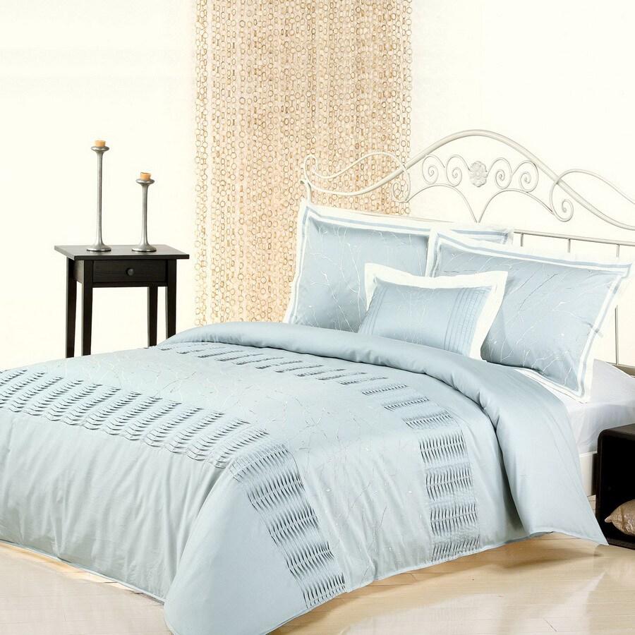 North Home Bedding Nina 4-Piece Blue Queen Duvet Set