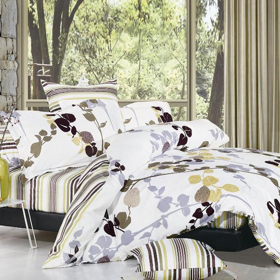 North Home Bedding Vintage 4-Piece White Queen Duvet Set