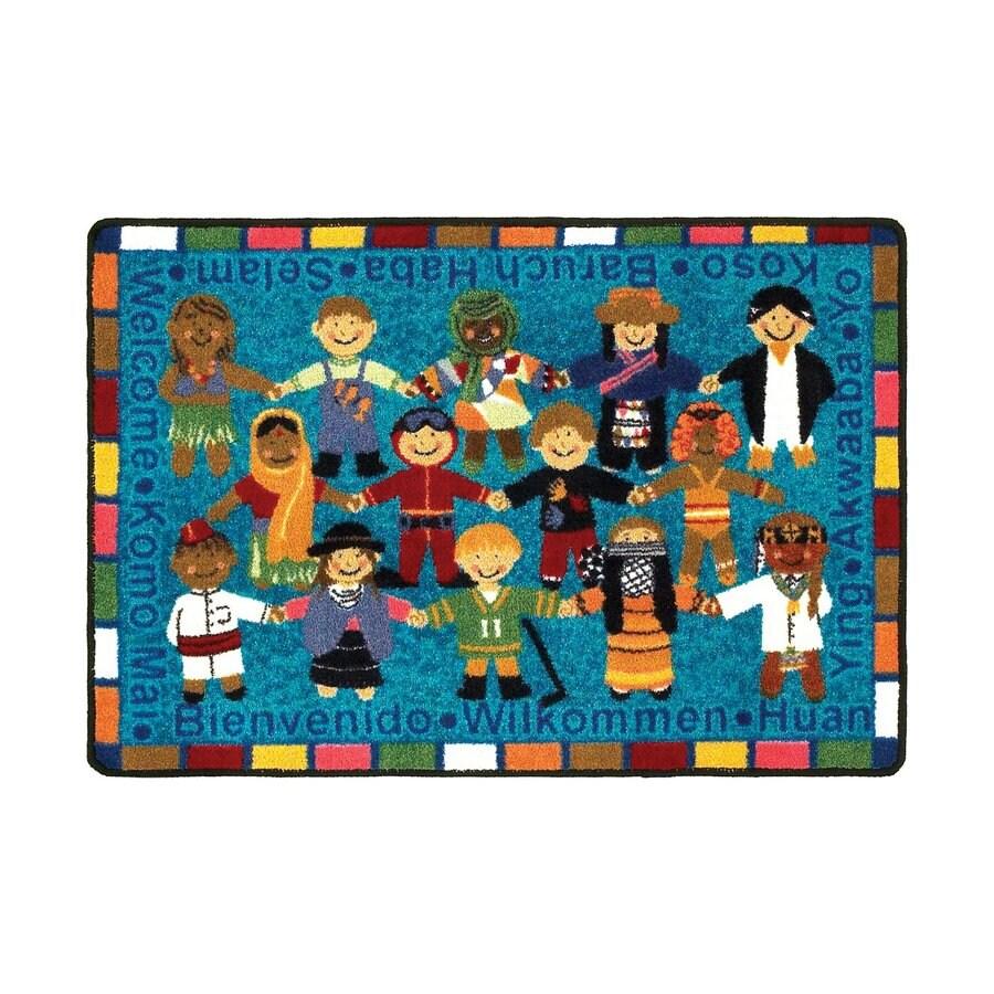 Joy Carpets Multicolor Rectangular Door Mat (Actual: 43-in x 33-in)