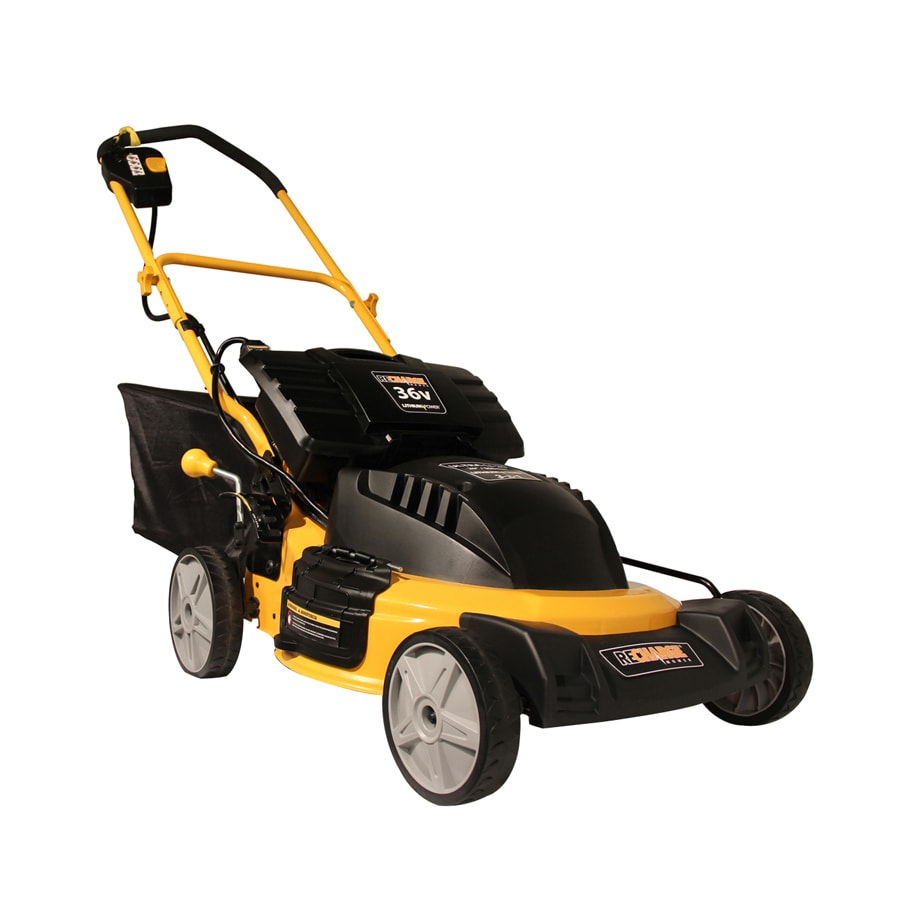 Recharge Mower 36-Volt 20-in Cordless Electric Push Lawn Mower with Mulching Capability