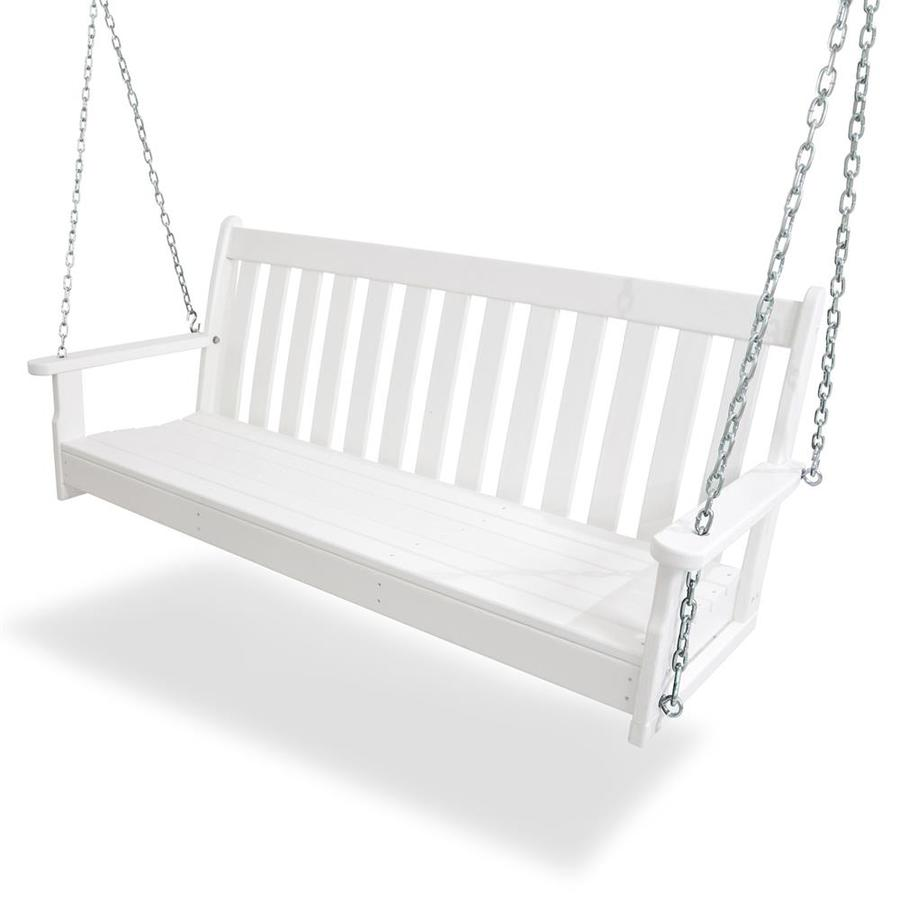 POLYWOOD Vineyard White Porch Swing