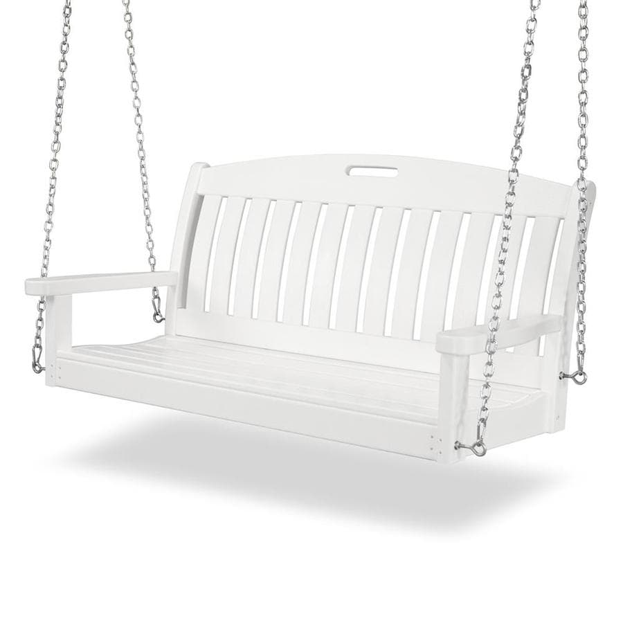POLYWOOD Nautical White Porch Swing