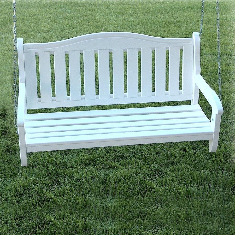 Prairie Leisure Design Satin White Porch Swing