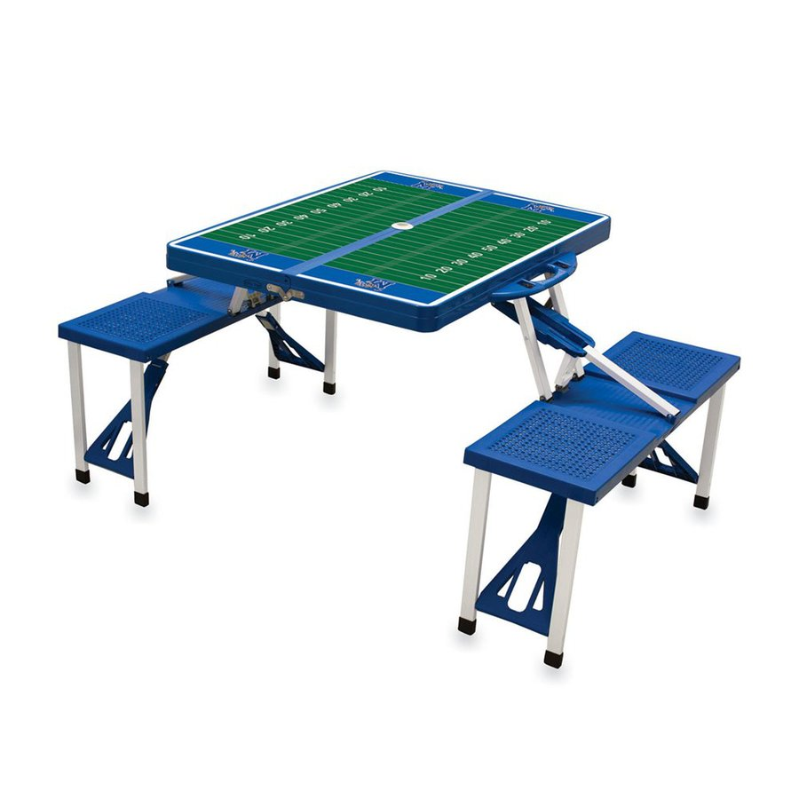 Picnic Time 54-in Blue Memphis Tigers Plastic Rectangle Collapsible Picnic Table