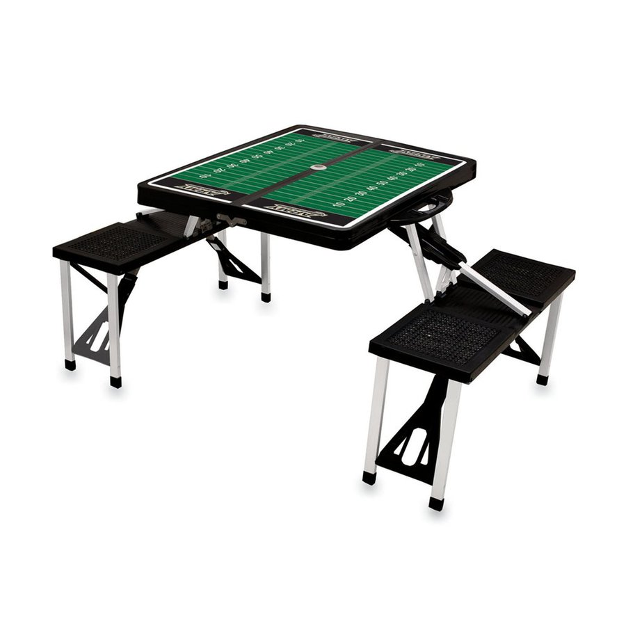Picnic Time 54-in Black Army Black Knights Plastic Rectangle Collapsible Picnic Table