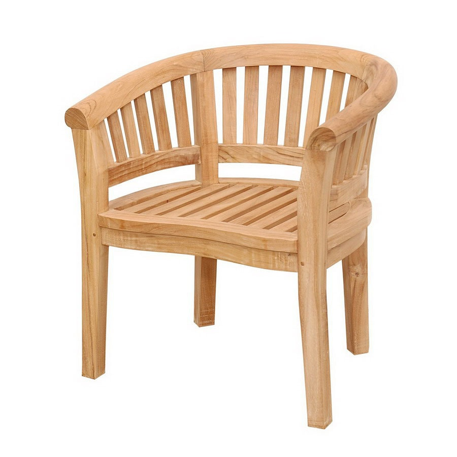 Anderson Teak Curve Natural Slat Seat Teak Patio Dining Chair