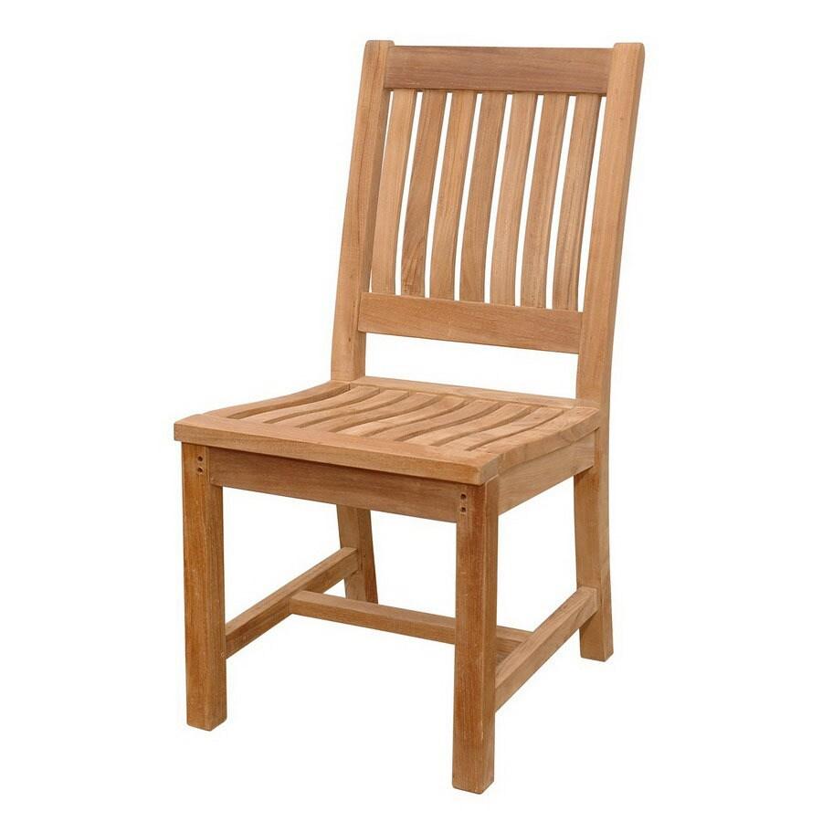 Anderson Teak Rialto Natural Slat Seat Teak Patio Dining Chair