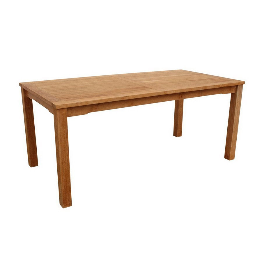 Anderson Teak Bahama 35-in W x 70-in L Rectangle Teak Dining Table