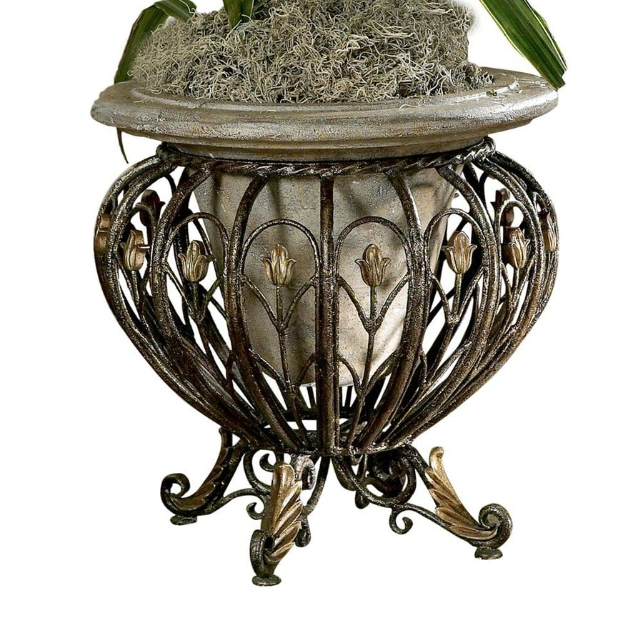 Butler Specialty 20-in Chinoiserie Round Granite Plant Stand
