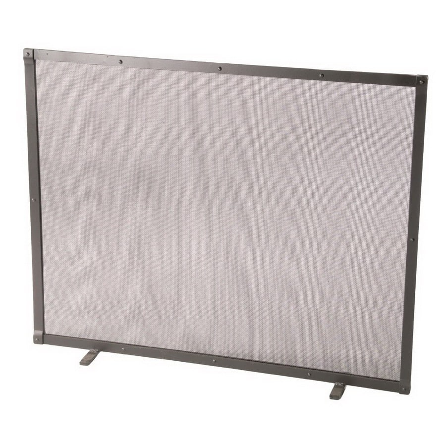 ironworks 38 in natural black iron flat fireplace screen at