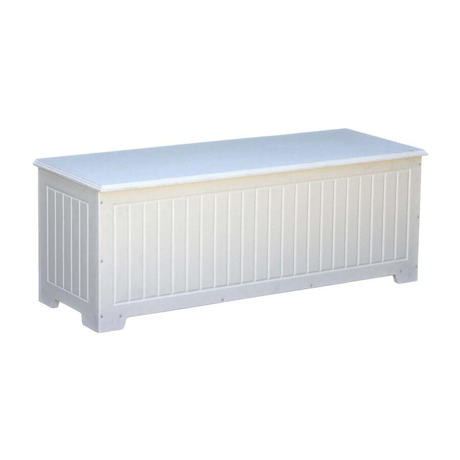Eagle One Sydney 48-in L x 18-in W 54-Gallon White Polyethylene Deck Box