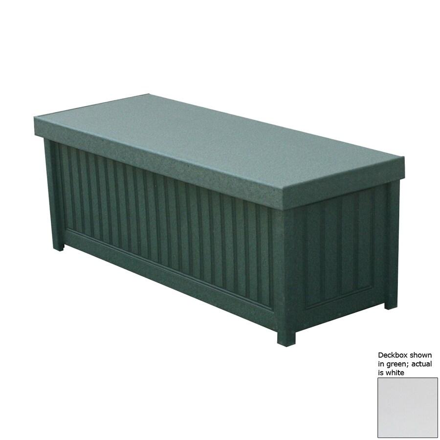 Eagle One Brisbane 48-in L x 19-in W 54-Gallon White Polyethylene Deck Box