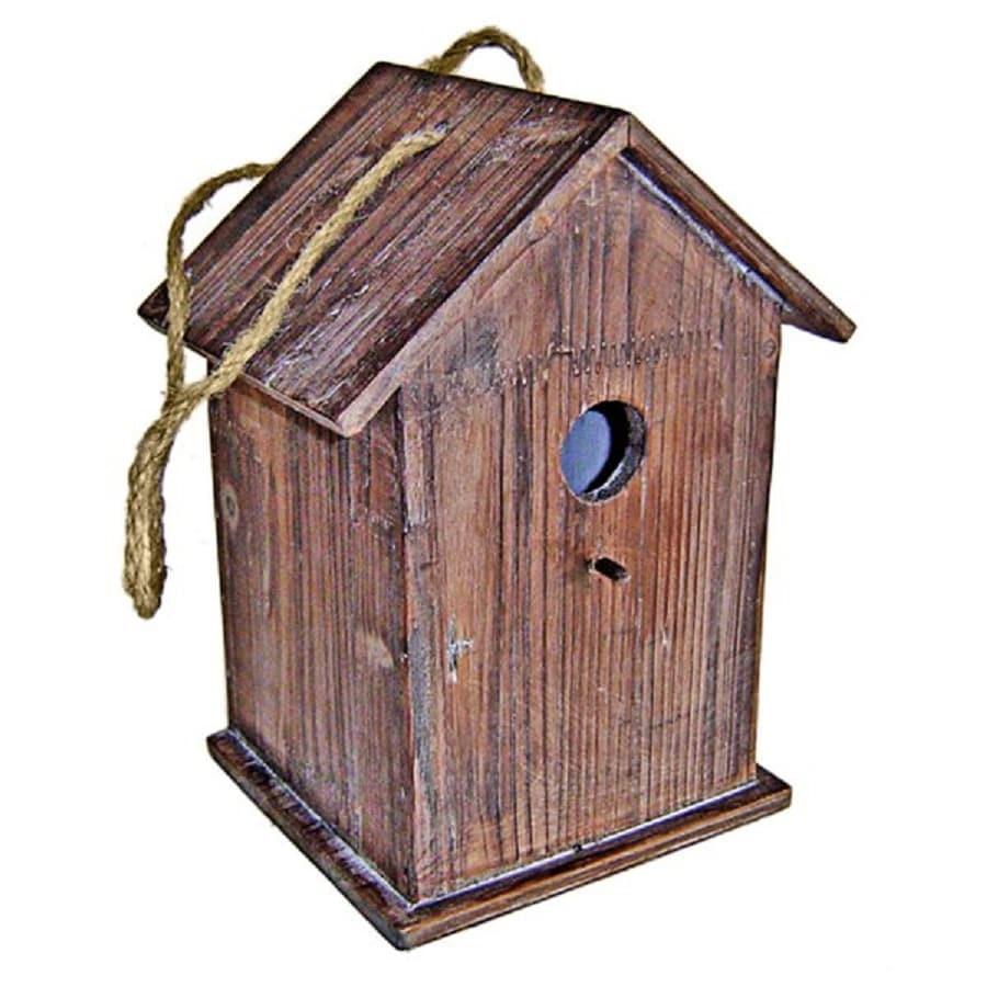 Cheung's 6.25-in W x 10.75-in H x 8-in D Brown Bird House