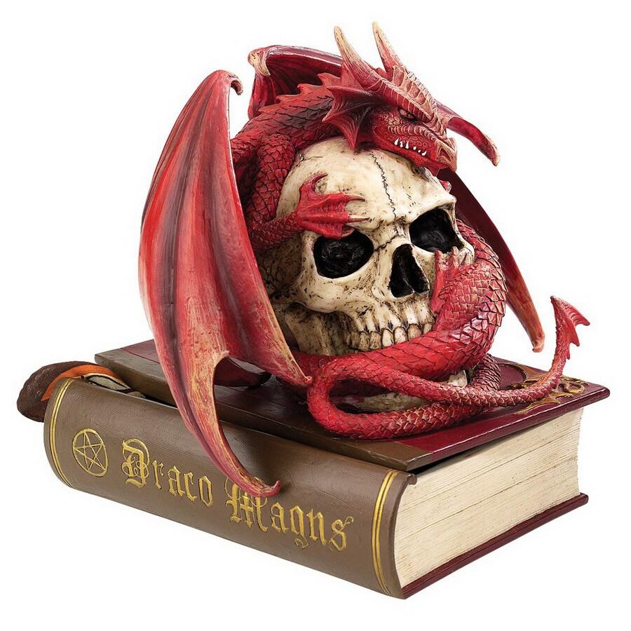 Design Toscano Round Blood Dragon Contemplation Sculptural Box
