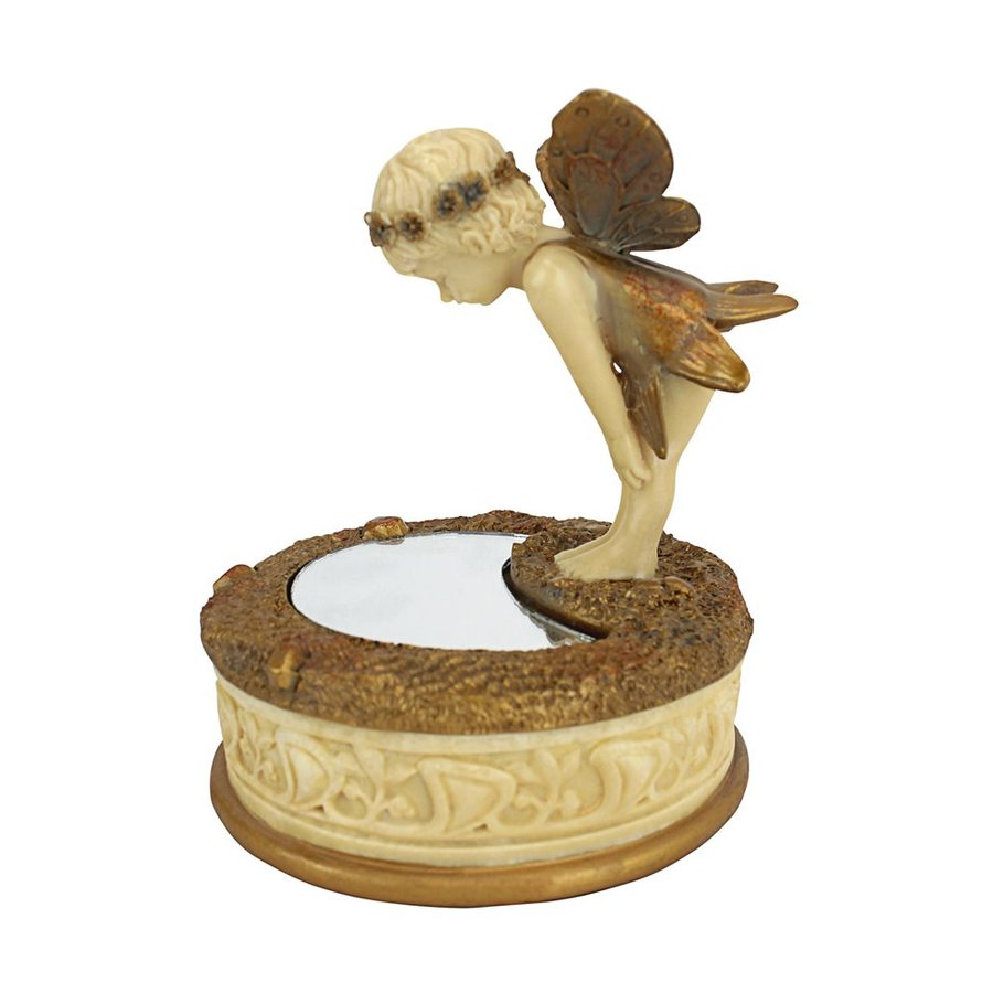 Design Toscano Round a Pondering Fairy Collectible Box