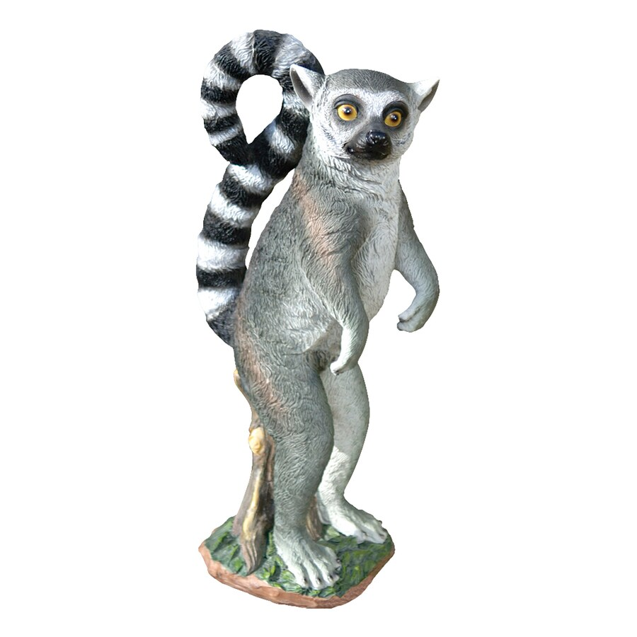 Design Toscano Rulon The Ring-Tailed Lemur 14.5-in Animal Garden Statue
