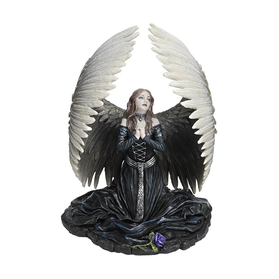 Design Toscano Hand Painted Resin Prayer for the Fallen Angel Statue