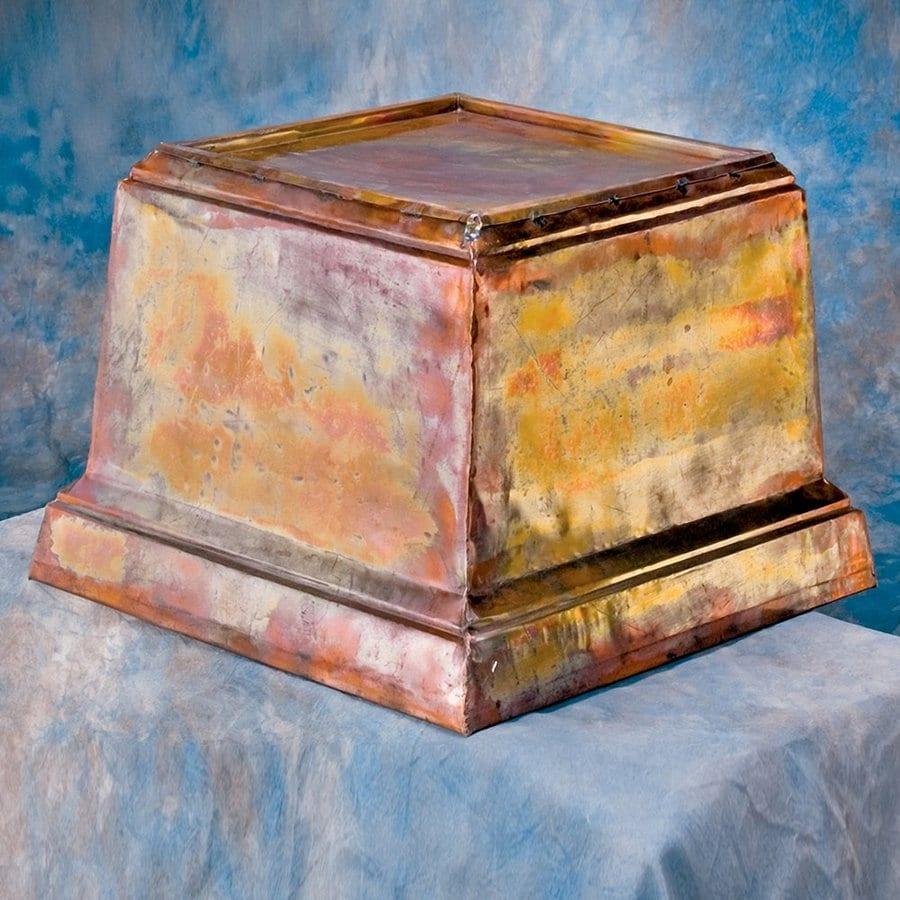 H. Potter 20-in x 15-in Rustic Copper Metal Planter