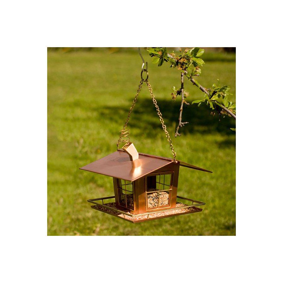 H. Potter Copper Platform Bird Feeder