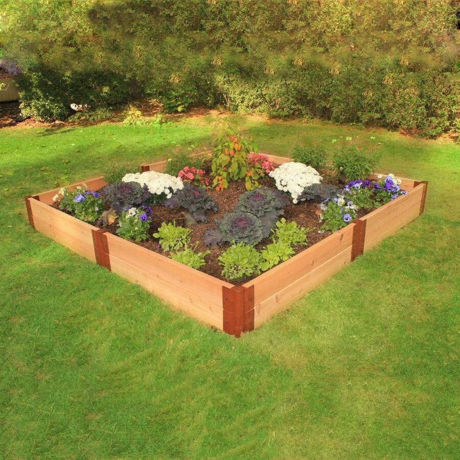 Scenery Solutions L X 96 Inches W X 12 Inches H Cedar Raised Garden Bed