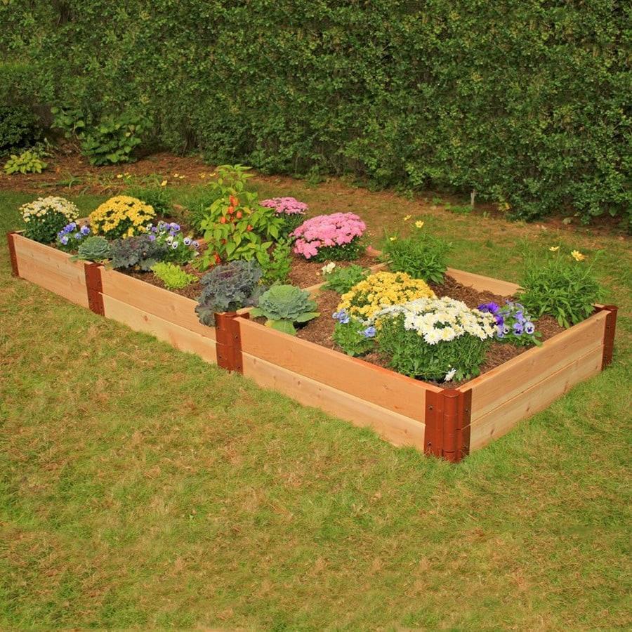 Scenery Solutions 96-in W x L x 12-in H Brown Cedar Raised Garden Bed
