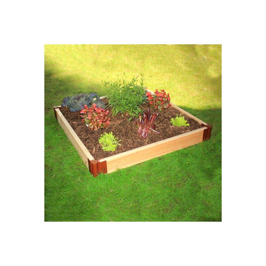 Scenery Solutions 48-in W x L x 6-in H Brown Cedar Raised Garden Bed