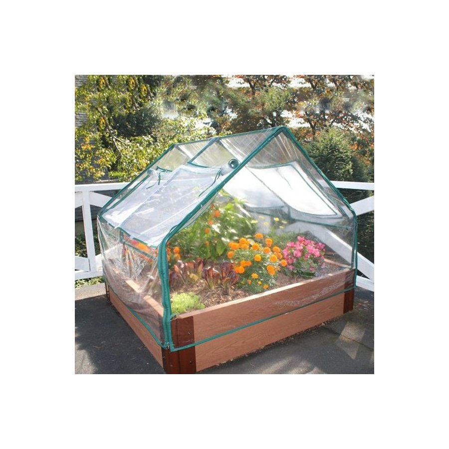 Scenery Solutions 48-in W x L x 12-in H Brown Composite Raised Garden Bed