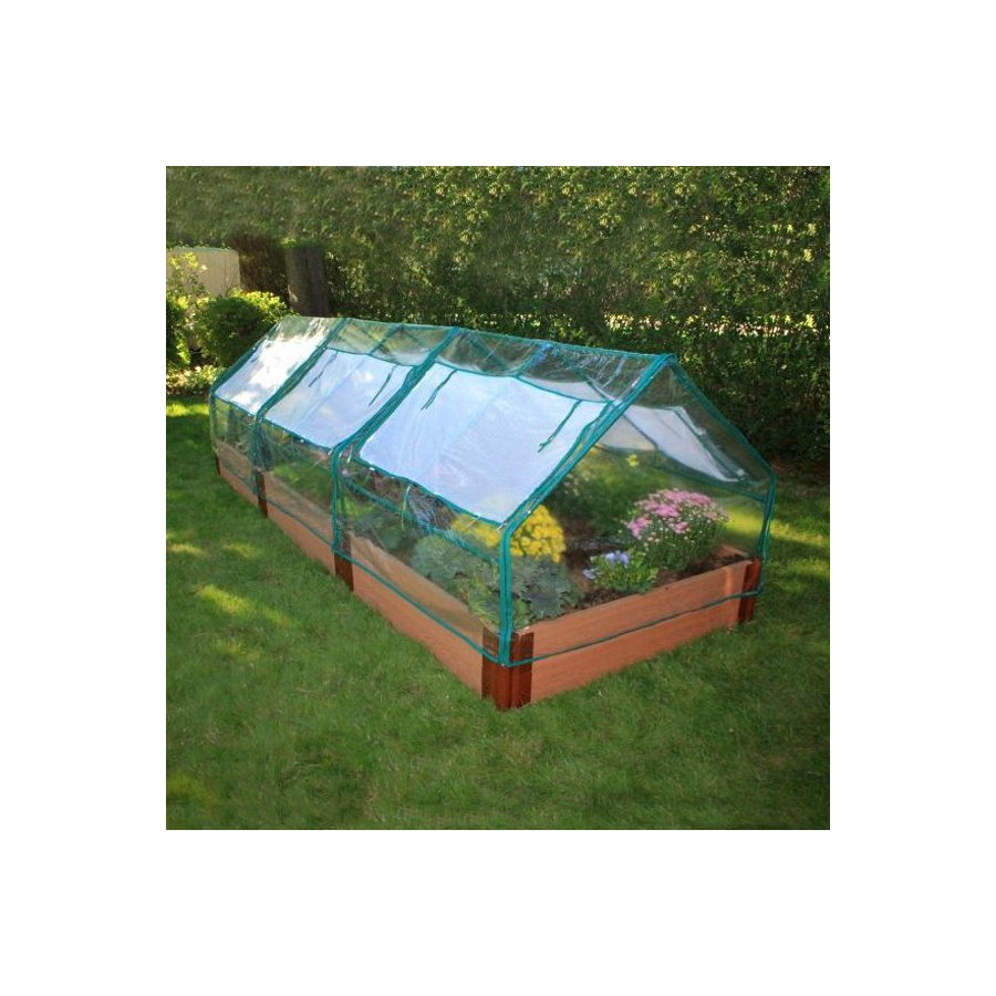 Scenery Solutions 144-in W x L x 12-in H Brown Composite Raised Garden Bed