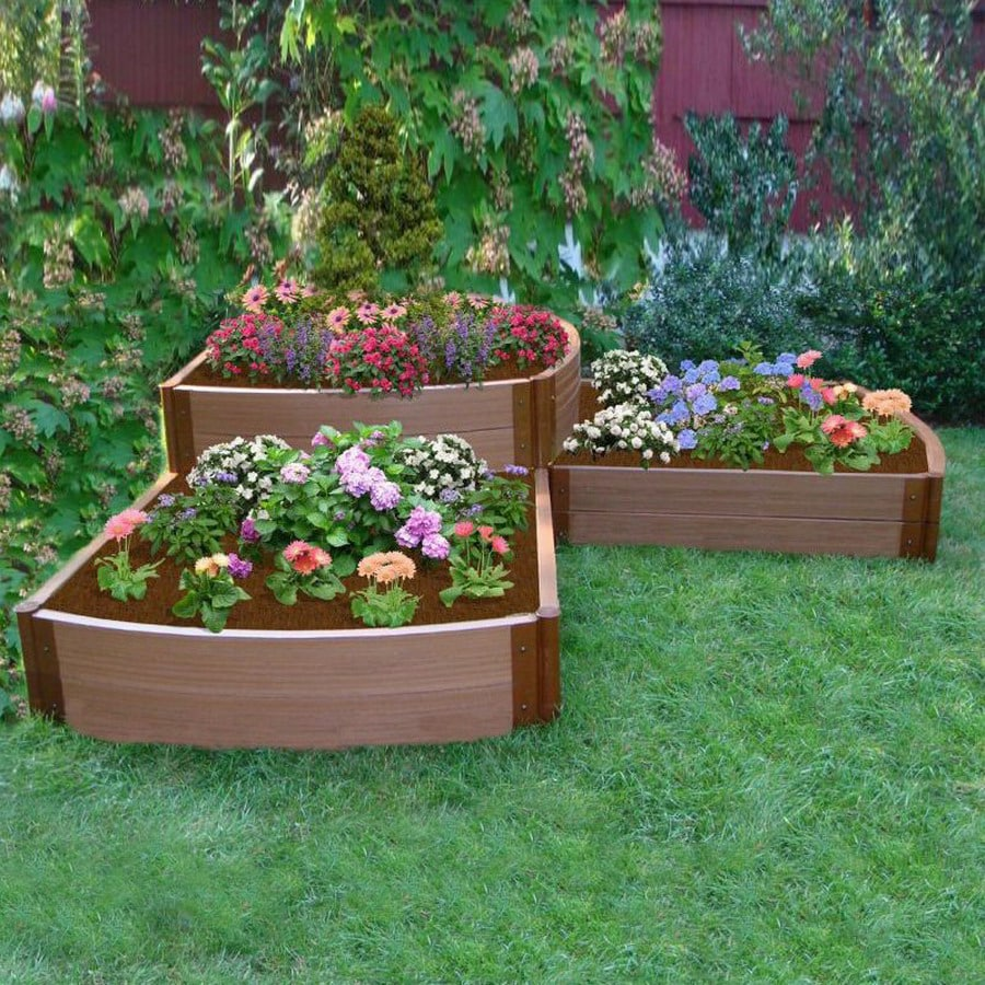 Scenery Solutions 96-in Brown Composite Raised Garden Bed