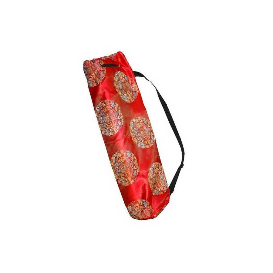 J FIT Red Printed Silk Yoga Mat Bag