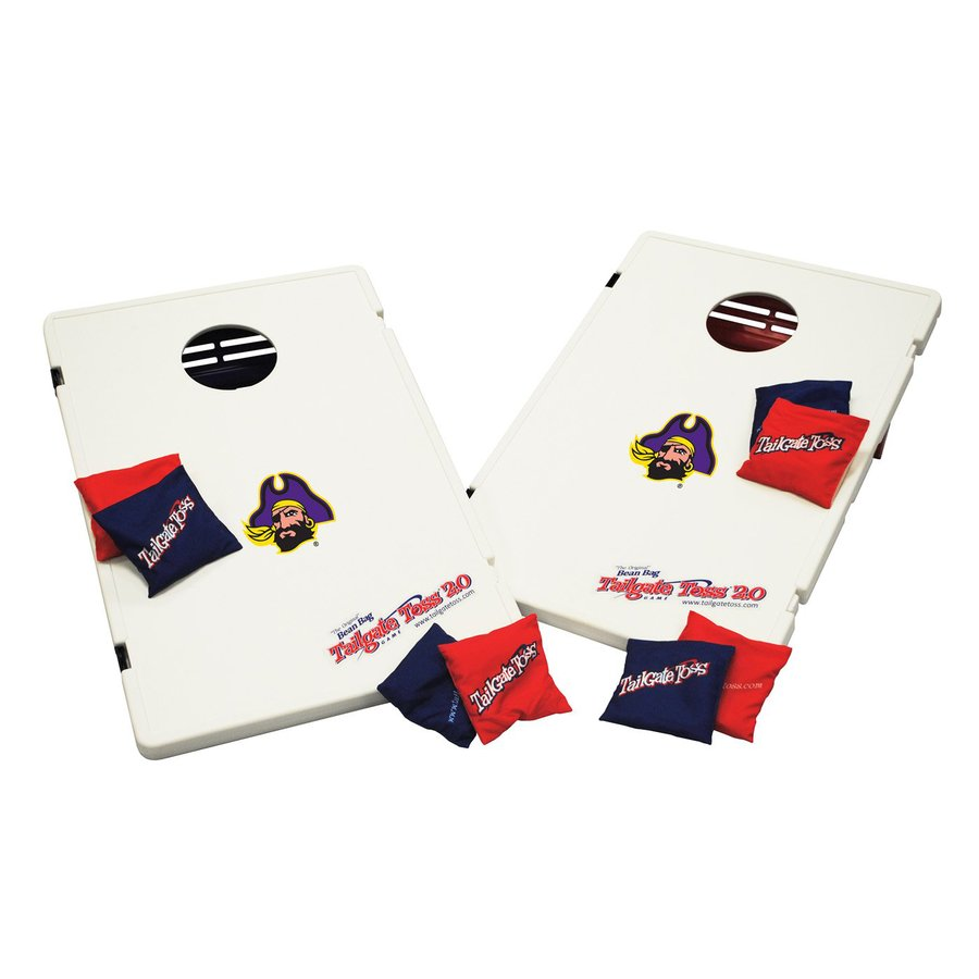 Wild Sports East Carolina Pirates Outdoor Corn Hole Party Game with Case