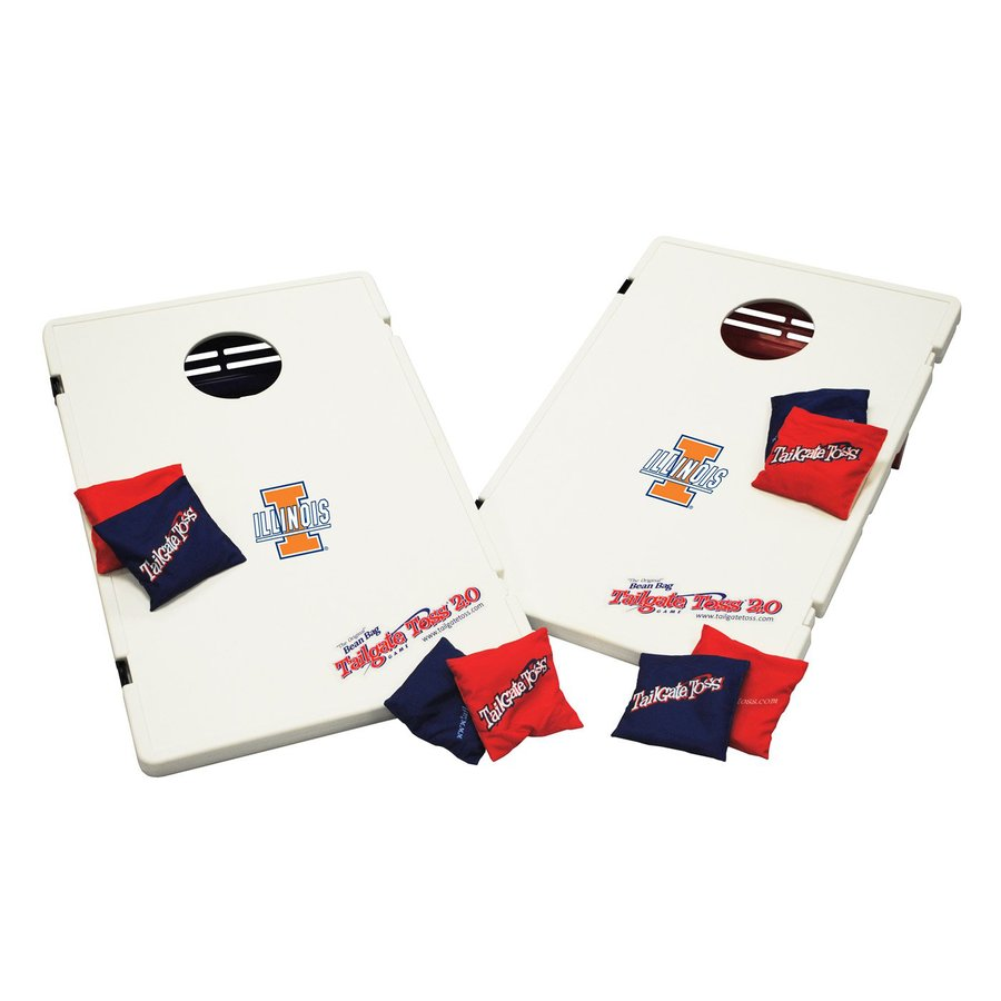 Wild Sports Illinois Fighting Illini Outdoor Corn Hole Party Game with Case
