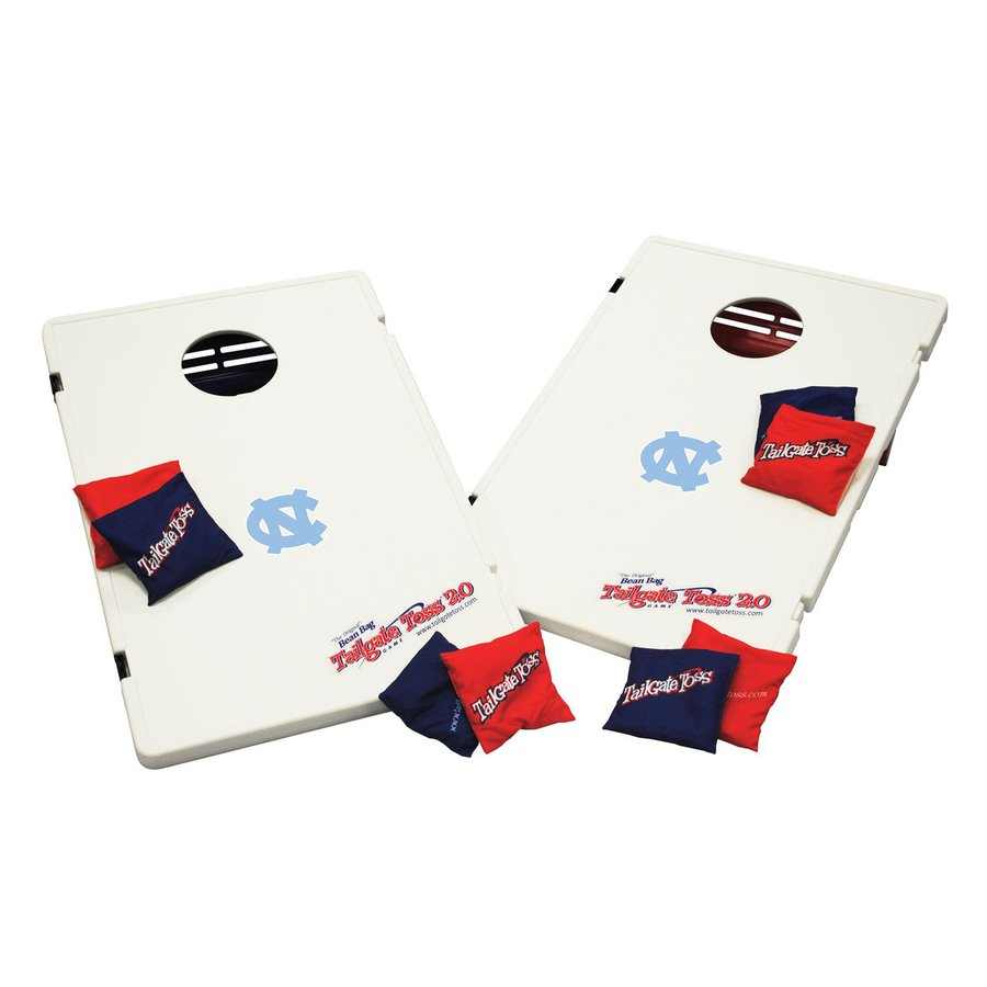 Wild Sports North Carolina Tar Heels Outdoor Corn Hole Party Game with Case