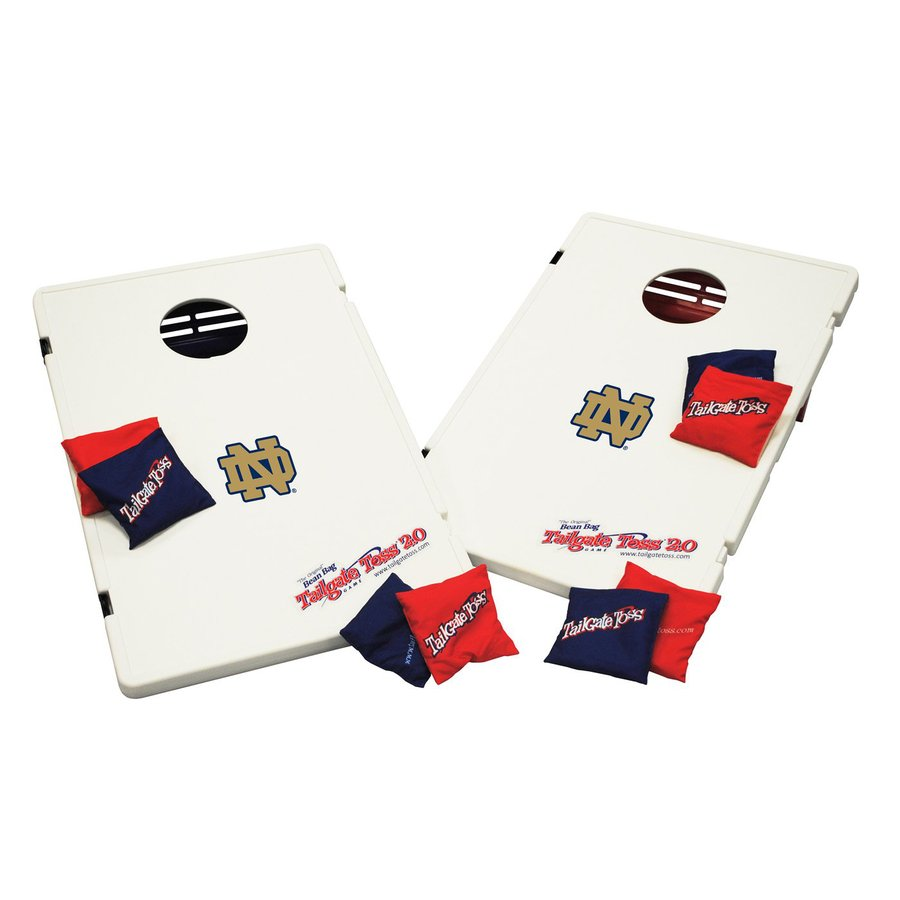 Wild Sports Notre Dame Fighting Irish Outdoor Corn Hole Party Game with Case
