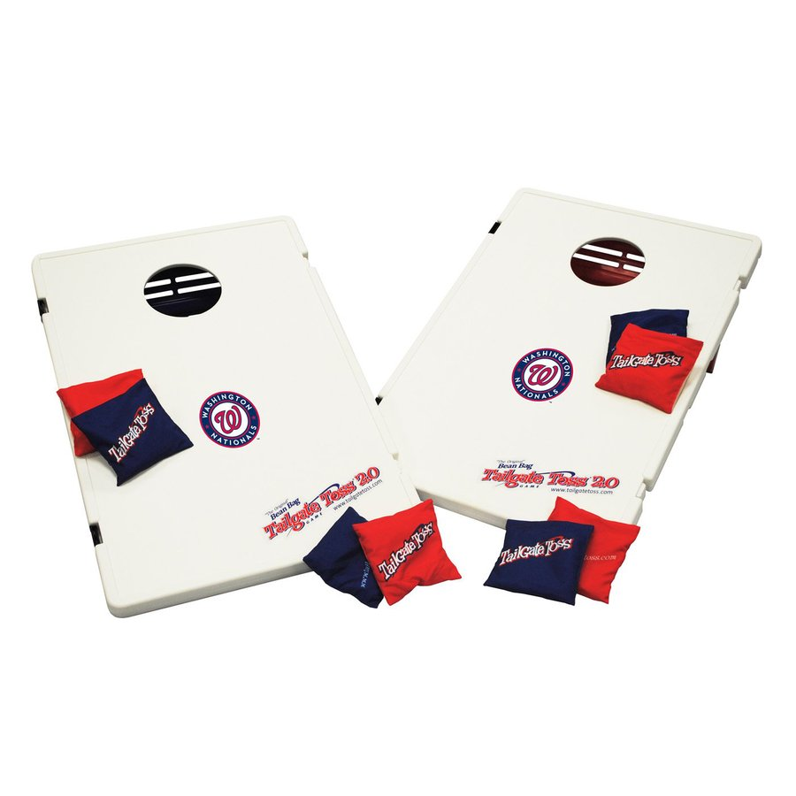 Wild Sports Washington Nationals Outdoor Corn Hole Party Game with Case