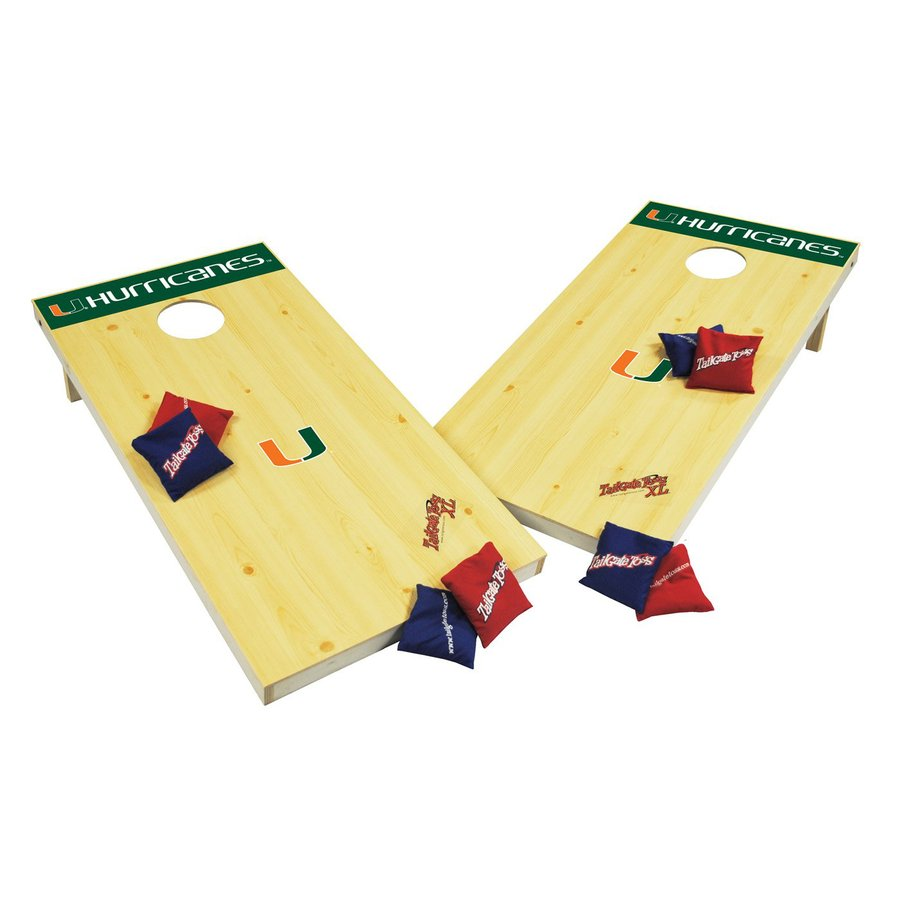Wild Sports Miami Hurricanes Outdoor Corn Hole Party Game