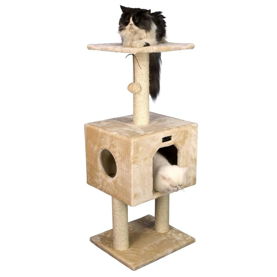 Armarkat 42-in Beige Faux Fur 3-Level Cat Tree