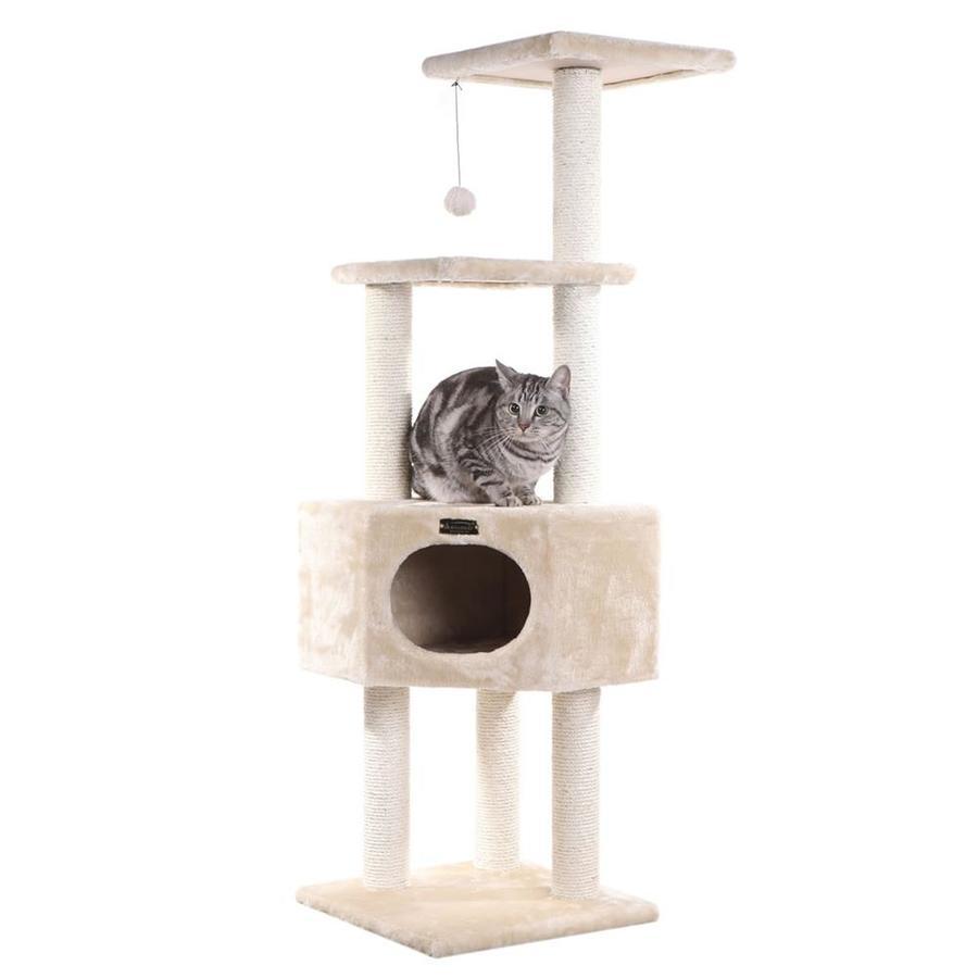 Armarkat 52-in Beige Faux Fur 4-Level Cat Tree