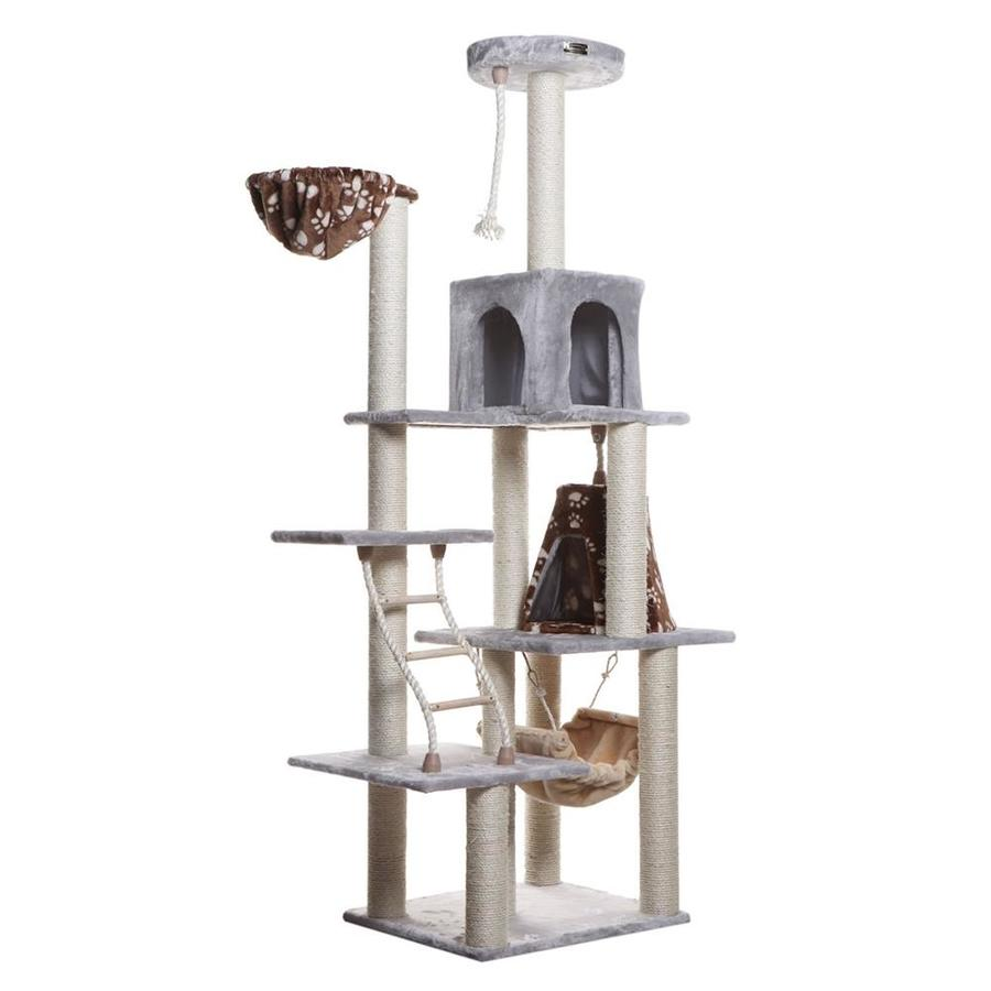 Armarkat 78-in Gray Faux Fur 9-Level Cat Tree